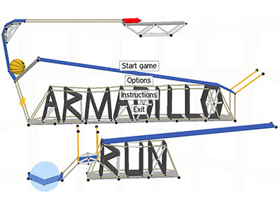 Armadillo Run menu screenshot