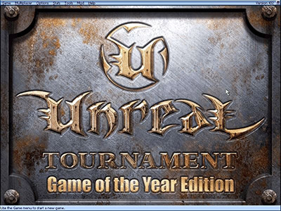 Unreal Tournament menu screenshot